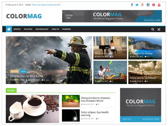 ColorMag gratis WordPress thema